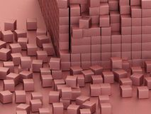 Rosablöcke stock abbildung