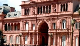 rosada argentina delle case Fotografia Stock