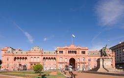 rosada présidentiel de palais de maison de l'Argentine images stock