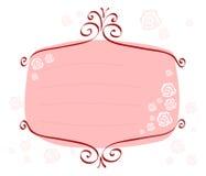 Rosado-marco-con-rosas Fotos de archivo