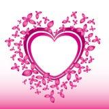 Rosafarbene Abbildung des Valentinsgrußes lizenzfreie abbildung