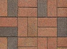 Rosafarbene ANG-graue Blockpflasterung Lizenzfreie Stockfotografie