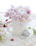 Rosafarbene Apfelblüte Stockfotografie