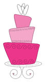 Rosafarbene auf den Kopf gestellte Kuchenabbildung Stockbild