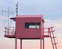 Rosafarbene Ausblickstation Stockfotografie
