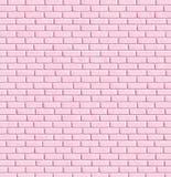 Rosafarbene Backsteinmauer, Hintergrund Stockfotografie