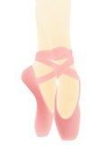 Rosafarbene Ballettschuhe Stockfotos