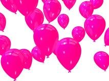 Rosafarbene Ballone lizenzfreie abbildung