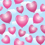 Rosafarbene Ballons Lizenzfreies Stockbild