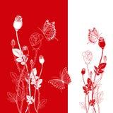 Rosafarbene Basisrecheneinheit des abstrakten Frühlingsrotes vektor abbildung