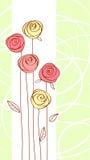 Rosafarbene Blume der roten Farbe Lizenzfreies Stockfoto