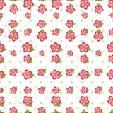 Rosafarbene Blumen-nahtlose Fliese Lizenzfreie Stockfotografie