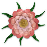 Rosafarbene Blumenauslegung Lizenzfreie Stockbilder