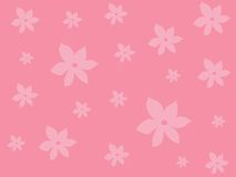 Rosafarbene Blumenauslegung lizenzfreie abbildung