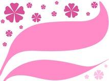 Rosafarbene Blumenauslegung stock abbildung