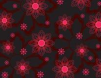 Rosafarbene Blumentapete Stockfotografie