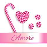 Rosafarbene Bonbons Stockfotografie