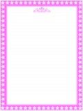 Rosafarbene Briefpapierquerneigung 03 Stockfotos