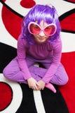 Rosafarbene Brillen Stockfoto