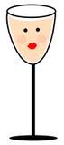 Rosafarbene Champagne-Klipp-Kunst Stockbild
