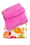 Rosafarbene Decke Stockfoto
