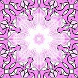 Rosafarbene dekorative Fliese Lizenzfreies Stockbild