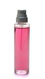 Rosafarbene Duftstoffflasche Lizenzfreie Stockbilder