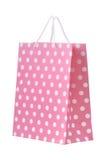 Rosafarbene Einkaufstasche Stockfoto