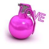 Rosafarbene explosive Liebe stock abbildung