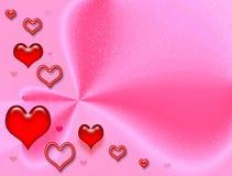 Rosafarbene feierliche Karte zum Valentinstag Lizenzfreies Stockbild