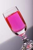 Rosafarbene Flüssigkeit stockfoto
