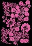 Rosafarbene Früchte und Blätter Stockbild