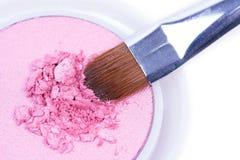 Rosafarbene gebrochene Schatten mit Berufspinsel Stockfoto