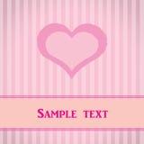Rosafarbene gestreifte Karte mit Innerem. Stockbild