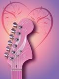 Rosafarbene Gitarre Stockfotografie