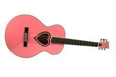 Rosafarbene Gitarre Stockbilder