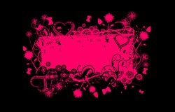Rosafarbene Grunge Fahne vektor abbildung