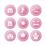 rosafarbene Halloween-Zeichen stock abbildung
