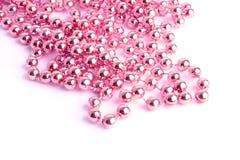 Rosafarbene Halskette Stockfoto
