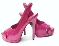 Rosafarbene hohe Absätze Stockfoto