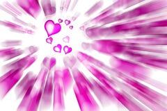 Rosafarbene Innere des Valentinsgrußes Stockbilder