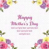 Rosafarbene Karte der Muttertagesebene Stockfoto