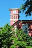 Rosafarbene Kirche Stockbild