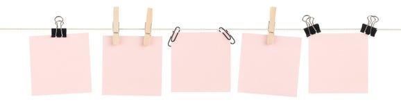 Rosafarbene klebrige Anmerkung Mashup lizenzfreies stockbild