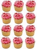 Rosafarbene kleine Kuchen Stockfoto