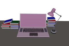 Rosafarbene Laptop-Computer Lizenzfreie Stockfotos