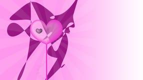 Rosafarbene Liebe Stockbild