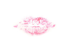 Rosafarbene Lippen Stockfotos