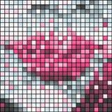 Rosafarbene Lippen, Vektor Stockbild