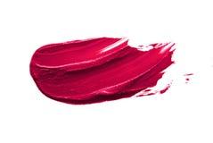 Rosafarbene Lippenstift-Schmierstelle Stockbilder